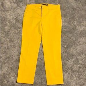 Zara yellow dress pants